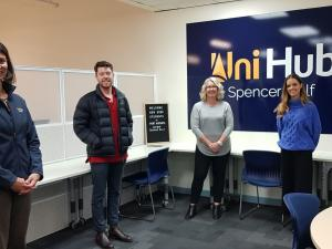 Rory, Tayla and Matthew with Anita and Shannon (UniHub Port Augusta)