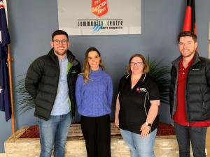 Matthew, Tayla and Rory with Major Daye (Salvation Army)